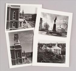 Four Photographs Depicting Street Views of County Courthouses