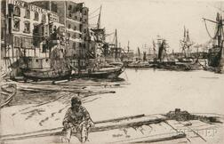 James Abbott McNeill Whistler (American, 1834-1903)      Eagle Wharf