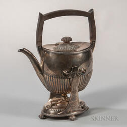 Gorham Sterling Silver Kettle-on-Stand with Burner