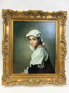 European School, 20th Century      Portrait of a Young Woman in a White Headdress