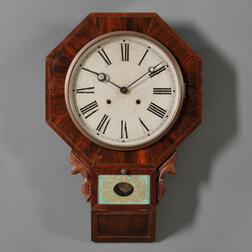 Waterbury Mahogany Drop Octagon Wall Clock