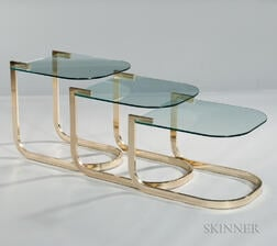 Three Milo Baughman Stacking Tables