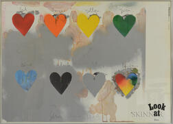 After Jim Dine (American, B. 1935)      Look at Dine  /Galerie Thomas Exhibition Poster