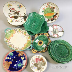 Approximately Twenty-five Wedgwood Majolica Dishes
