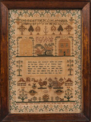 """Sarah Shaw"" Needlework Sampler"