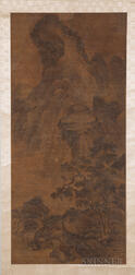 Hanging Scroll Depicting Cranes and Pine Trees