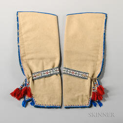 Cree Beaded Cloth Leggings and Beaded Garters