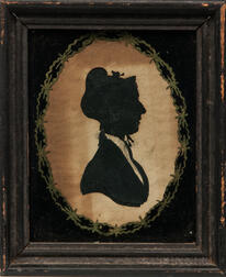 Hollow-cut Silhouette Portrait of a Woman