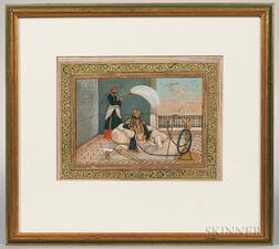 Miniature Portrait of a Mughal Officer