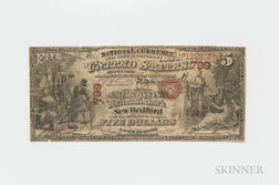 Contemporary Counterfeit The Merchants National Bank of New Bedford $5 Original Banknote