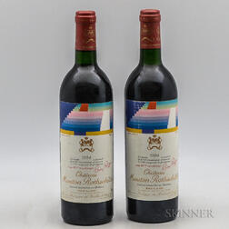 Chateau Mouton Rothschild 1984, 2 bottles