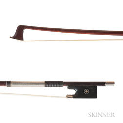 Silver-mounted Violin Bow, H.R. Pfretzschner