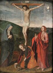 Flemish School, 16th Century Style      The Crucifixion with the Virgin, St. John, and Mary Magdalene