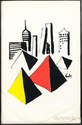 Alexander Calder (American, 1898-1976)      Untitled (City and Pyramids)