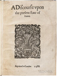 Hurault, Michel (d. 1592) A Discourse upon the Present State of France.