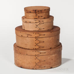Stack of Four Oval Shaker Pantry Boxes