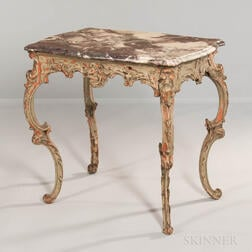 Louis XV Painted Marble-top Center Table