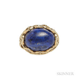 18kt Gold and Lapis Ring