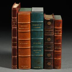 Mixed Lot: 1816-1921, Fine Bindings, Signed Copies, First Editions, Five Volumes.