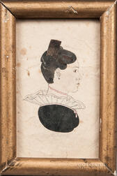 Roswell Park (American, Mid-19th Century)      Profile Portrait of a Young Woman with a Large Comb