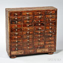 Miniature Case of Forty-four drawers