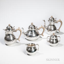Five-piece Elizabeth II Sterling Silver Tea and Coffee Service