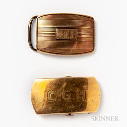 Two 14kt Gold Buckles