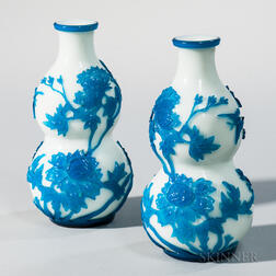 Pair of Peking Glass Vases