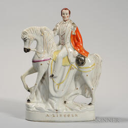 Victorian Staffordshire Figure Depicting Abraham Lincoln
