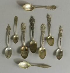 Group of Forty Sterling Souvenir Spoons of the Southern States