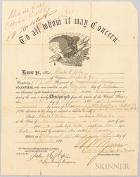 Civil War Discharge Certificate