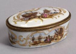 Continental Porcelain Oval Snuff Box