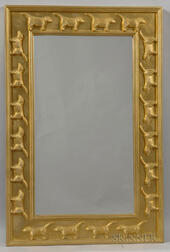 Stephen Huneck Dog-decorated Mirror