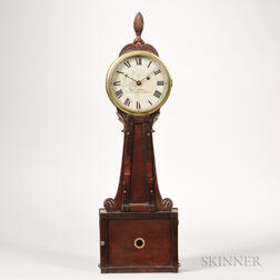 "Martin Cheney Wood-front Patent Timepiece or ""Banjo"" Clock"