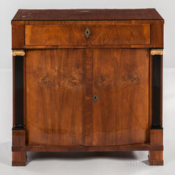 Northern European Biedermeier Birch-veneered Cabinet