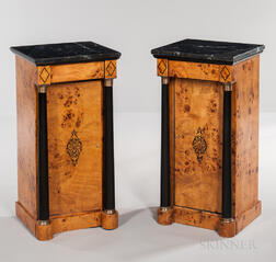 Pair of Empire-style Marble-top Stands