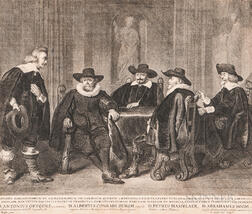 Dutch and French Schools, 17th-19th Centuries, Seven Framed Portrait Engravings by or after Thomas de Keyser, Wenzel Hollar, Félix Tréz
