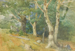 Henry Sandham (Canadian, 1842-1912)      Landscape with Trees