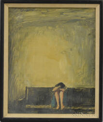 Continental/American School, 20th Century      Weeping Woman