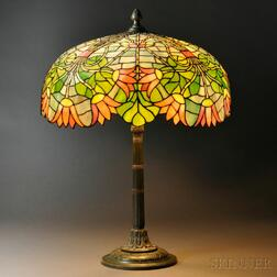 Mosaic Glass Egyptian Revival Table Lamp Attributed to Gorham