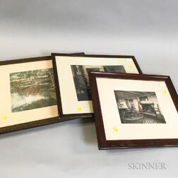 Eighteen Framed Mostly Wallace Nutting Prints.     Estimate $300-500