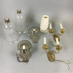 Two Pairs of Wall Sconces