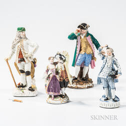 Four Meissen Porcelain Figures