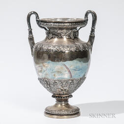 T.J. Creswick Silver-plated Two-handled Vase