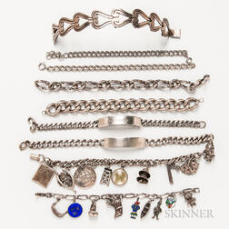 Group of Silver Bracelets