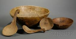 Five Woodenware Items