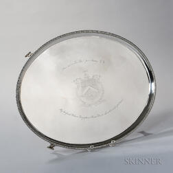 George III Irish Sterling Silver Presentation Tray