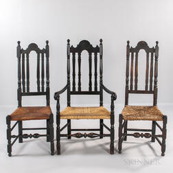 Three Bannister-back Chairs