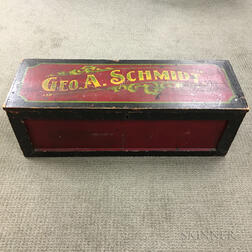 """Geo. A. Schmidt"" Paint-decorated Pine Box"