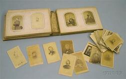 Album with a Collection of Civil War Era Cartes de Visite